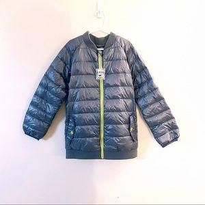 NWT Boy's puffer jacket size medium gray silver